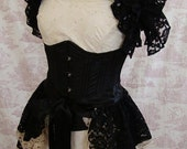 Gothic  Lace Bustle Skirt  Burlesque  Victoriana Steampunk  BOCCA BACIATA  Vintage Lace  Victorian Decadence By Ophelias Folly