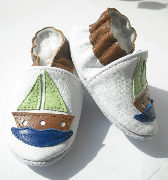soft sole baby shoes leather infant kids children girl boy gift new ship brown 12-18 months Bébés garçon fille Chaussons porter