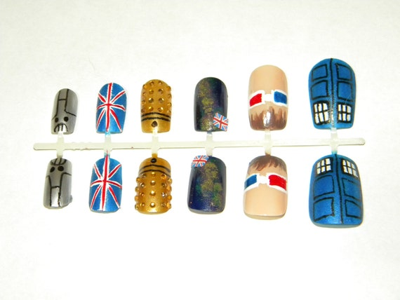 Doctor Who Press On Nails (Tenth Doctor)