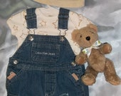 """Prints Charming"""" 0-3 month sz 4pc Calvin Klein Upcycled Boutique OOAK Outfit FREE SHIP"""