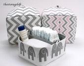 Custom Made Diaper Caddy - Storage Bin Basket Container Organizer - You Choose Fabric