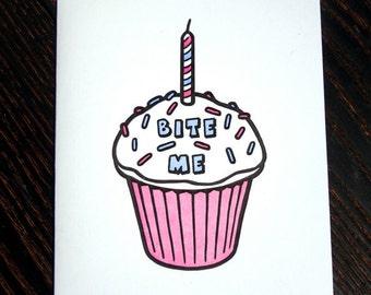 Bite Me Cupcake Card