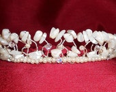Pearlesque Tiara with Mother-of-Pearl Gemstone Chips