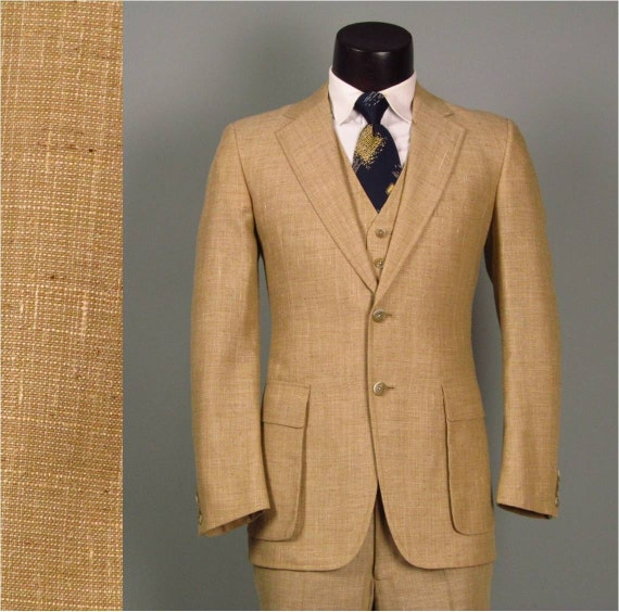Mens Linen 3 Piece Suit | My Dress Tip