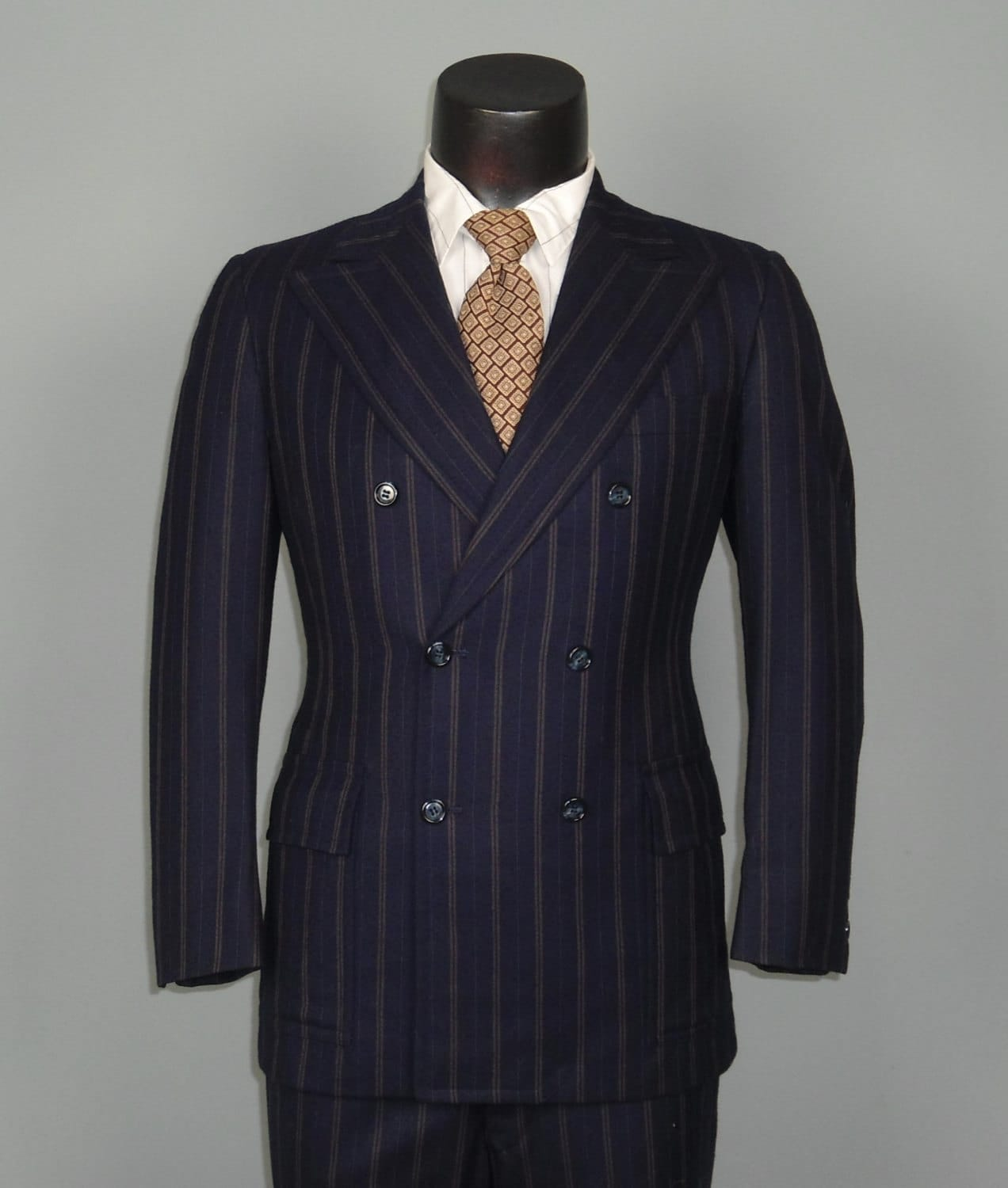 vintage mens suits 1960s pinstripe navy by