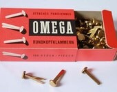 Vintage Collectible Box of Envelope Fasteners / Clips