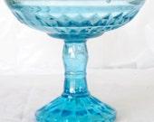 Jeannette ice blue windsor diamond compote