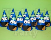 10 Cookie Monster party hats