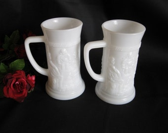 Mug  Beer    Milk Glass