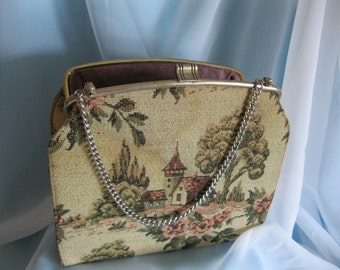 Vintage    Purse   Tapestry   50s  60s