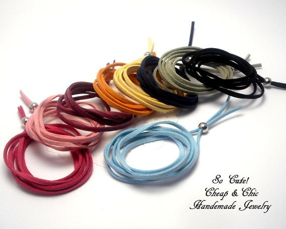 Bracelet - Leather  Bracelet -  Cuff   -  Multistraps -  Real Lether Bracelet - Leather Multi-strap cuff  - You choose the color