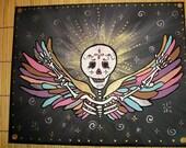 Victorious/ Original Dia de Los Muertos Sugar Skull Painting
