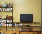 Band of Outsiders Entertainment System Wood and Pipe Shelving