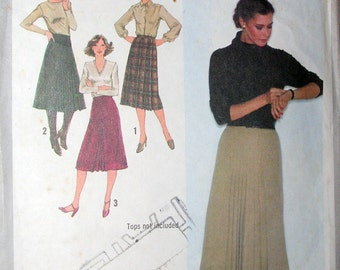 Simplicity Pattern 9176 Pleated Skirts 3 styles Size 10 Miss