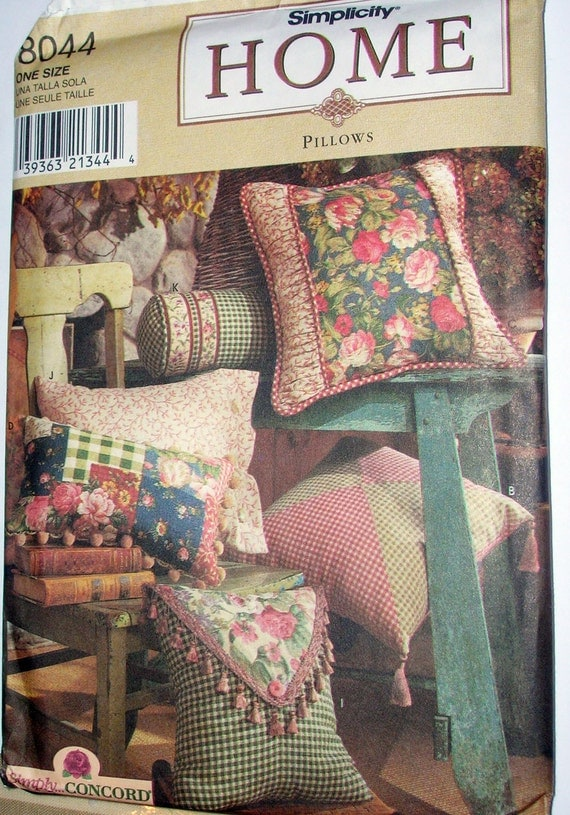 Https Www Etsy Com Listing 97579304 Pillows Simplicity 8044 Pattern Home