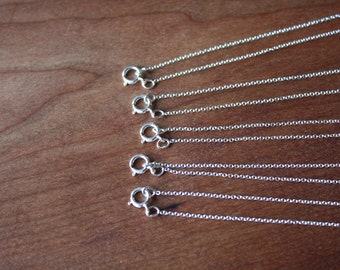 "16"" Sterling Silver Chain -Oval Cable Link- Order of 5."