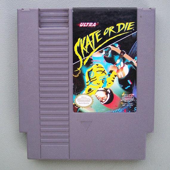 Vintage 1980's Nintendo Skate or Die Video Game in Working Condition