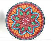 Colorfull Art Paper Sticker Mandala ZEN Home Decal Decoration Decorate Home Scrapebook Design Picture Artwork