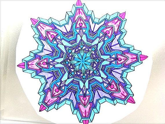 Colorfull Paper Sticker Mandala ZEN Home Decor Decoration Decorate Home Scrapebook Design Picture Artwork