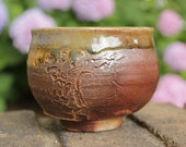 Carved Wood Fire Teabowl