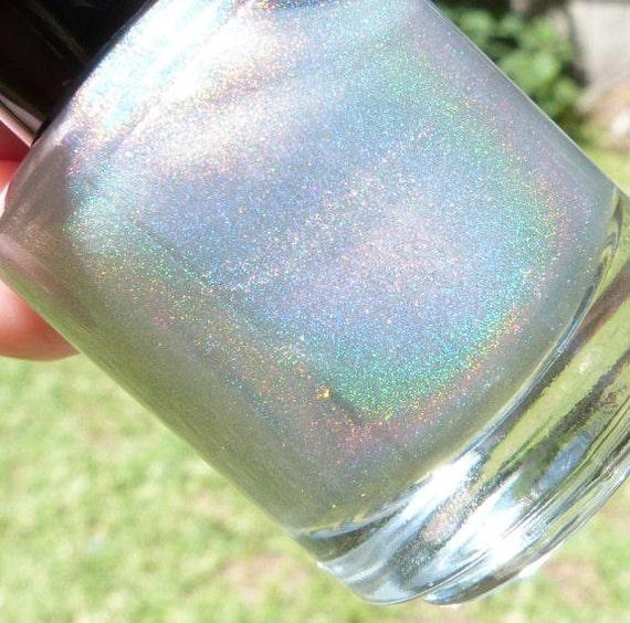 peyton - spectraflair top coat - handmade nail polish