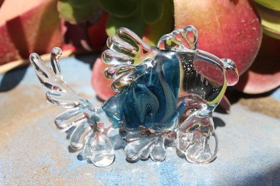 """Art glass pet fish """"stella"""" lampwork sculpture JKLD signed art"""