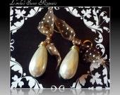 Vintage Faux Pearl Teardrop Earrings
