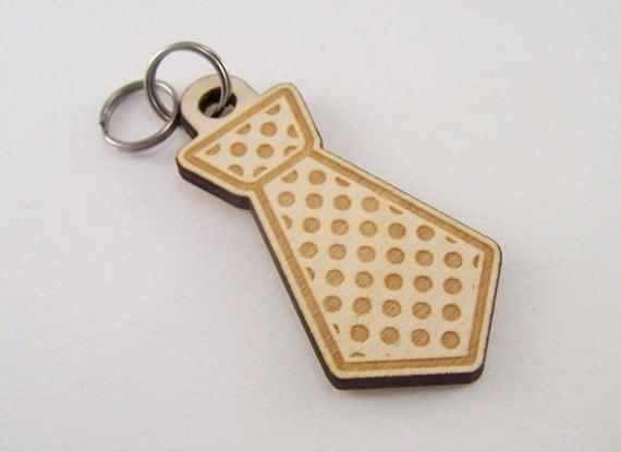 Dog Collar Tags Wood - Custom Polka Dot Tie Pet ID Tag