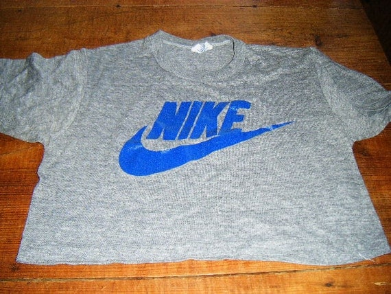 1970's Nike T-shirt Crop top, Soo hip and great for summer