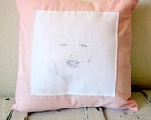 Marilyn Monroe Decorative Pillow Cover in Pink