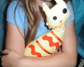 Custom made soft plush toys and quilted wall hangings based on children's artwork