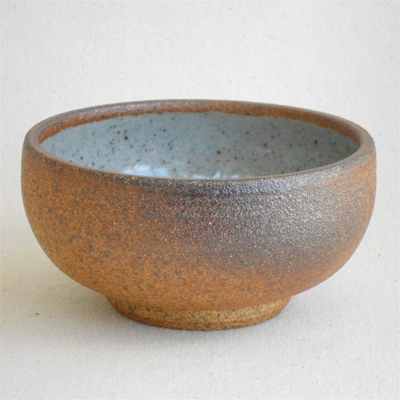 Reserved For Christen, Woodfired Bowl, Footed Bowl with Classic White Lining