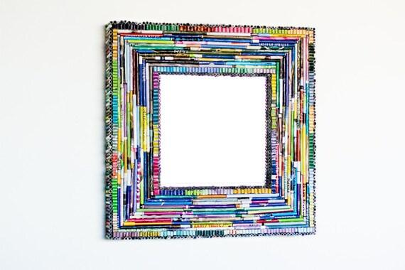 Handmade Magazine Mirror