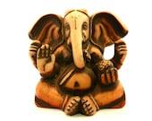 Carved Wood Indian Ganesha Elephant