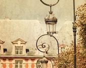 Ornate Lightposts at Place de Vosges - Paris Photography, fine art print, vintage style, French wall art, home decor, 8x12 photo