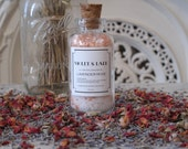 Lavender Rose Bath Salts- All natural w/ Essential Oil- Small size- by Violet & Lark