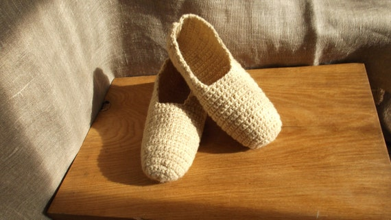 Crochet slippers, ECO