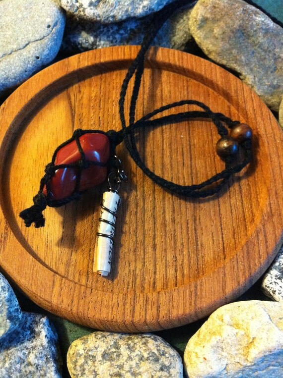 Red Jasper Protection Charm Necklace