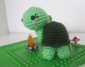amigurumi kawaii turtle plushie toy