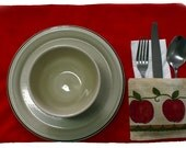 FARM Set of placemats, bread basket and centerpieces for pans