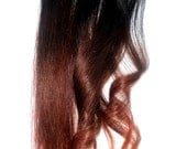 Ombre Hair- Burning Man -  Hair Extension - Weft Clip Extensions ///Custom Listing //18inch Any Color You Want Ombre Style