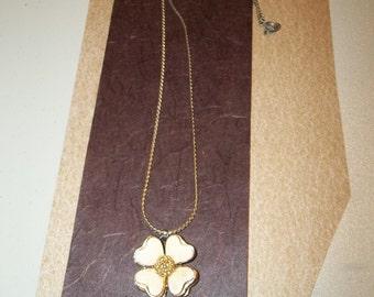 Signature Craft Dogwood Bloom Necklace and Trifari Bangle Bracelet