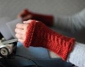 Rust Wrist warmers / fingerless gloves / arm warmers