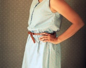 End of Summer SALE 30% off Blue Calico Sundress