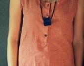 Little Blue Suede Necklace Pouch