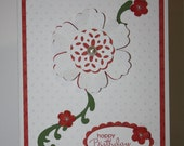 Birthday Wishes Shadow Flower Card