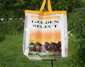 Horse grain bag recycled market tote bag