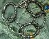 Modern Chunky metal bracelet