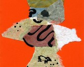 The Rip Torn Team ...7 large greeting cards of handmade paper with whimsical figures created from torn handmade paper.
