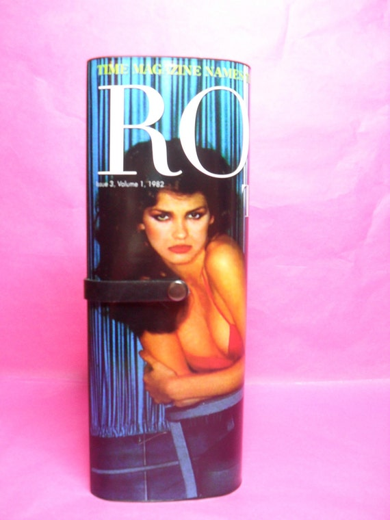 Rock This Way tribute to Gia Carangi magazine clutch purse